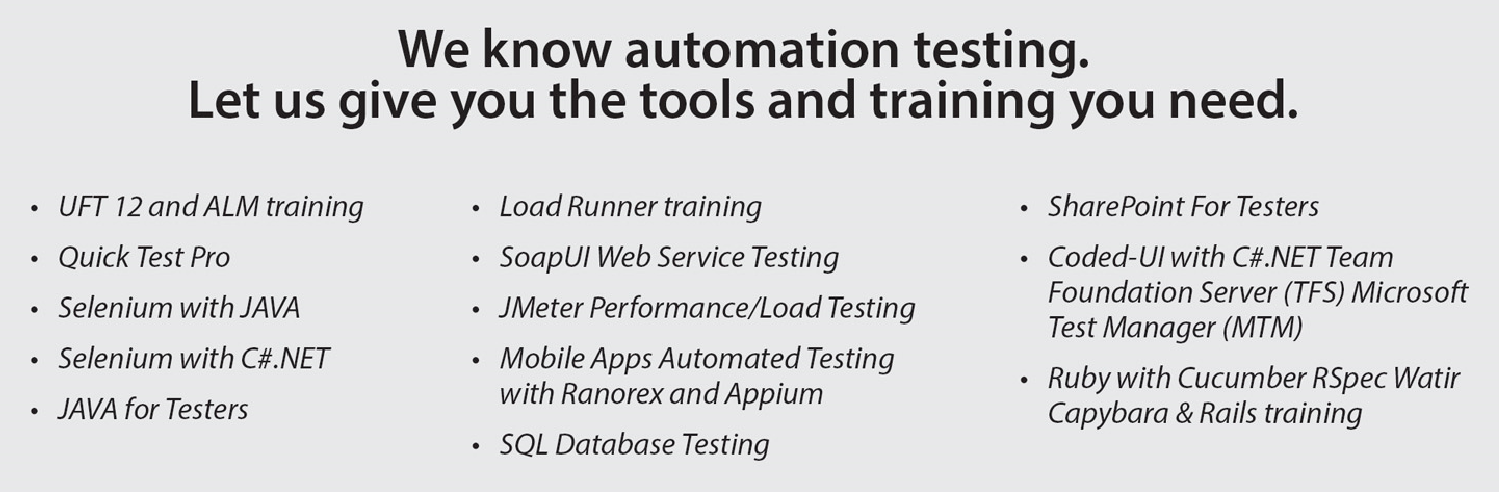 TrainingRite Automated Software Testing Training Courses